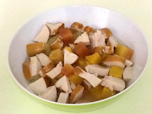 fruit met kip2